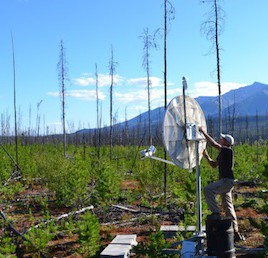Le professeur de l'Université d'Ottawa, Pascal Audet, installe une station sismique utilisée pour enregistrer des données afin de comprendre les séismes lents. (Crédit: Pascal Audet)