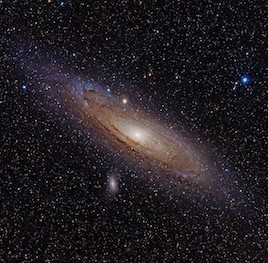 M31, the Andromeda galaxy, may be up to twice as massive as the Milky Way, despite a similar size and structure. (Photo credit: Adam Evans, via flickr)