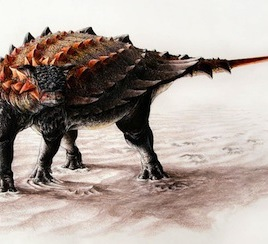 Artist's impression of Ziapelta sanjuanensis, a new species of ankylosaur discovered in New Mexico, but related to species from Alberta. (Image by Sydney Mohr)