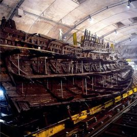 The Mary Rose was a British warship under King Henry VIII. It sank in 1545 after serving for 33 years. It was salvaged in 1982, when conservation efforts began. (Image Credit: Mary Rose Trust, via Wikimedia Commons)