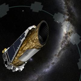 This artistic impression shows NASA's planet-hunting Kepler spacecraft operating in a new mission profile called K2. (Image credit: NASA Ames/JPL-Caltech/T Pyle)