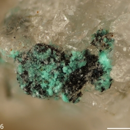 Chalconatronite [Na2Cu(CO3)2·3H2O], discovered in Mont Saint-Hilaire, Quebec, Canada. (RRUFF)